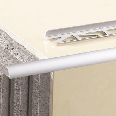 Profilo angolare interno alluminio anodizzato 1 2 x 250 cm for Profilo alluminio led leroy merlin