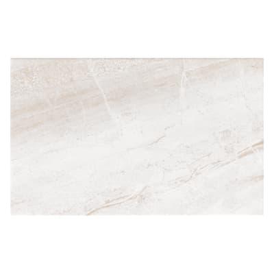 Piastrella per rivestimenti Pietra Bella 25 x 40 cm sp. 6.1 mm bianco