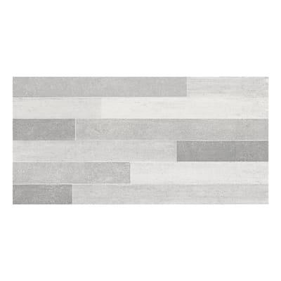 Piastrella per rivestimenti Emotion Mix 26 x 52 cm sp. 6.4 mm grigio