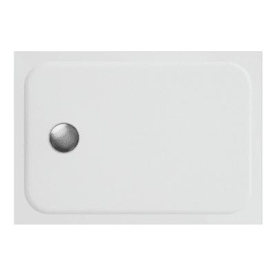 Piatto doccia ultrasottile resina sintetica e polvere di marmo Easy 70 x 100 cm bianco