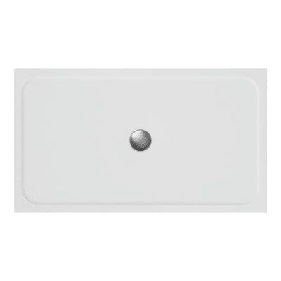 Piatto doccia ultrasottile resina sintetica e polvere di marmo Easy 80 x 140 cm bianco