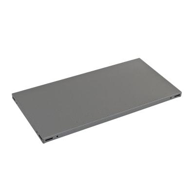 Ripiano in metallo L 100 x H 3 x P 50 cm grigio