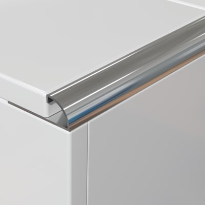 Profilo angolare interno inox x 250 cm prezzi e for Profilo alluminio led leroy merlin