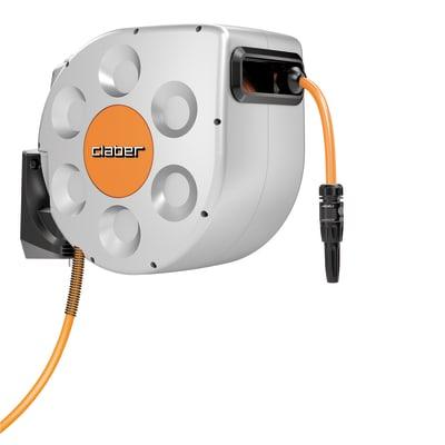 Avvolgitubo equipaggiato autoavvolgente da parete CLABER Rotoroll Evolution tubo da 20 m