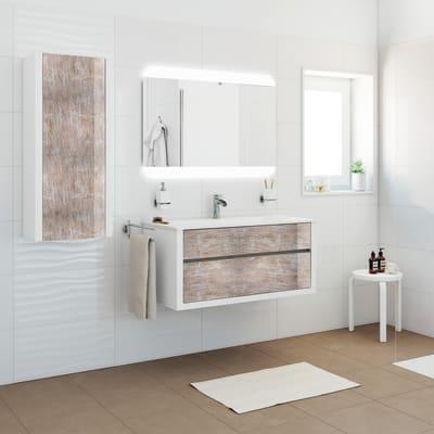 Mobile bagno Elegance bianco decapè L 100 cm