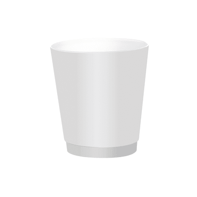 Pattumiera da bagno a pedale venezia GEDY bianco 6 Lin plastica