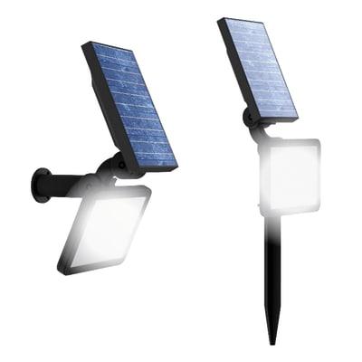 Applique a soffitto Proiettore / applique Solare 2in1 LED integrato in plastica nero 2.2W 200LM IP44 YANTEC