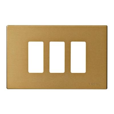 Placca VIMAR 8000 3 moduli bronzo
