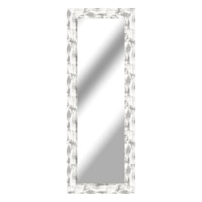 Specchio a parete rettangolare Osaka bianco 57x157 cm