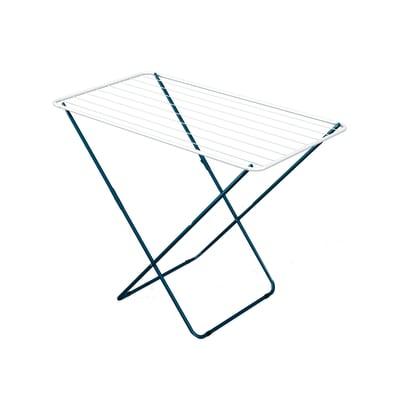 Stendibiancheria da appoggio con battenti Plast in acciaio L 105 cm bianco