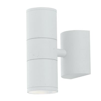 Applique per giardino Jump in acciaio, bianco, GU10 2xMAX35W IP44