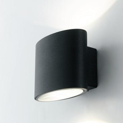 Applique Boxter LED integrato in alluminio, nero, 8W 700LM IP44