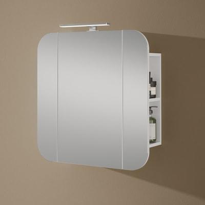 Specchio contenitore con illuminazione 20241-53-bide L 70 x P 16.5 x H 72 cm bianco