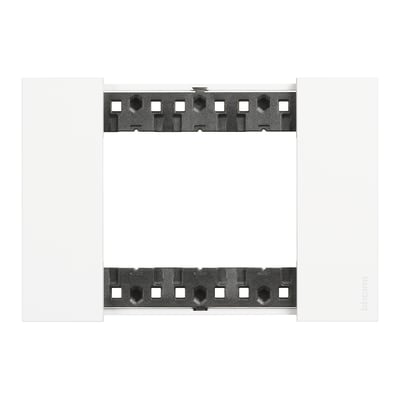 Placca Living Now BTICINO 3 moduli bianco