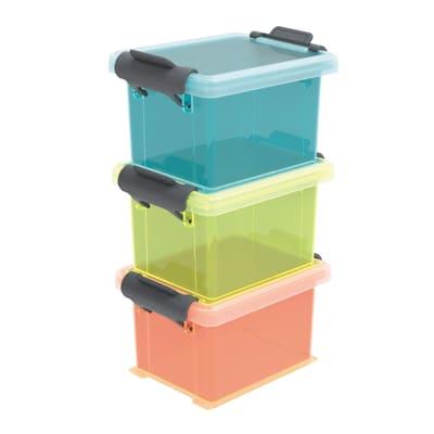 Scatola L6.5 x H 15.5 x P 8.7 cm Blu/Giallo/Arancio
