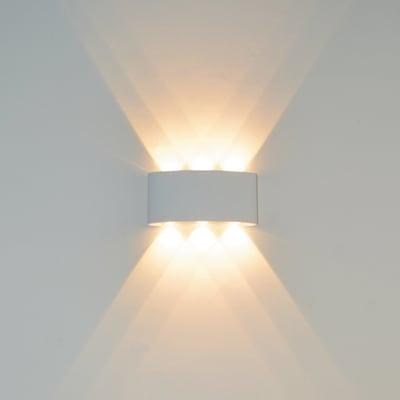 Applique design Squeezy LED integrato bianco, in alluminio, 6 luci LUSSIOL