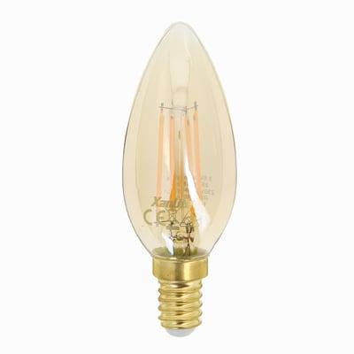 Lampadina decorativa LED Fiamma ambrato E14 30W = 350LM (equiv 30W) 320° XANLITE