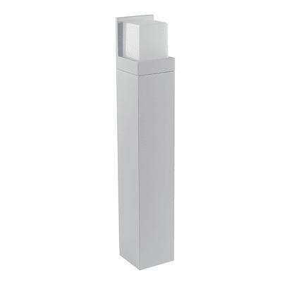 Lampione Nismo H100cm LED integrato in alluminio bianco 12W 1100LM IP44
