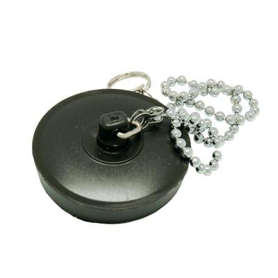 Tappo con catenella in gomma Ø 52 mm