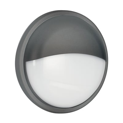 Plafoniera Ever LED integrato in policarbonato, nero, 20W 1600LM IP65