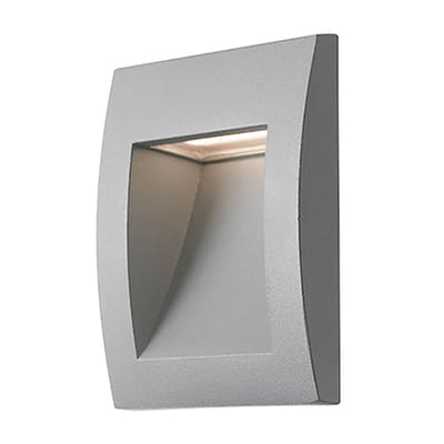 Faretto da incasso da esterno quadrato LYKAN-Q90 LED integrato 2W 30LM 1 x IP54