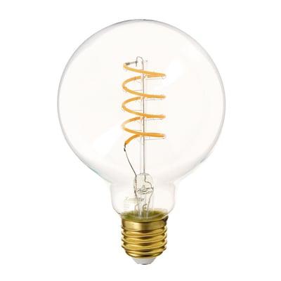 Lampadina decorativa LED filamento, E27, Goccia, Trasparente, Luce calda, 4W=300LM (equiv 28 W), 320° , XANLITE