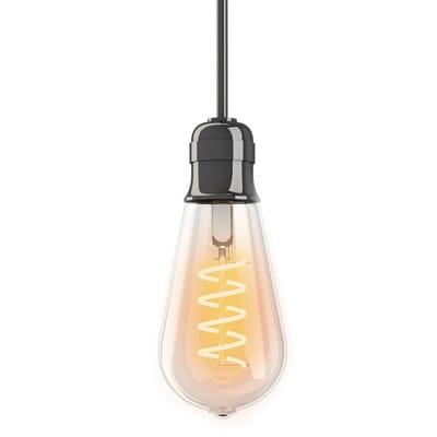 Lampadina decorativa LED E27, Edison, Trasparente, Bianco, Luce calda, 4W=300LM (equiv 28 W), 320° , XANLITE