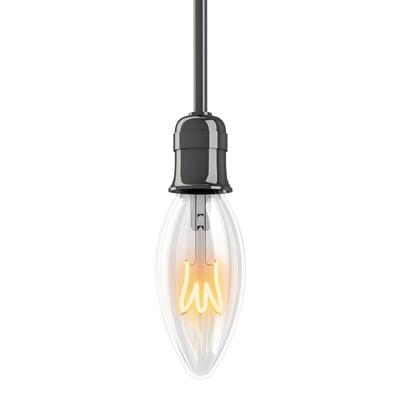 Lampadina decorativa LED E14, Oliva,  diffusore Trasparente, col.luce Bianco, Luce calda, 4W=180LM (equiv 18 W), 320° , XANLITE