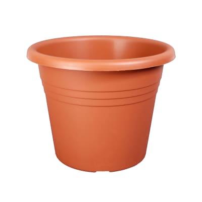 Vaso Isola in plastica colore cotto H 20 cm, Ø 25 cm