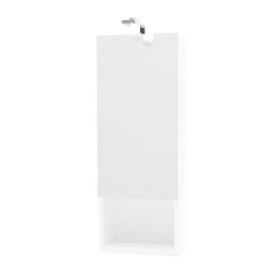 Specchio contenitore con luce Cube L 31 x P 15.5 x H 81 cm bianco lucido laccato