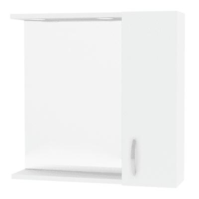 Specchio contenitore con luce Sole L 58 x P 15.5 x H 57 cm bianco lucido laccato