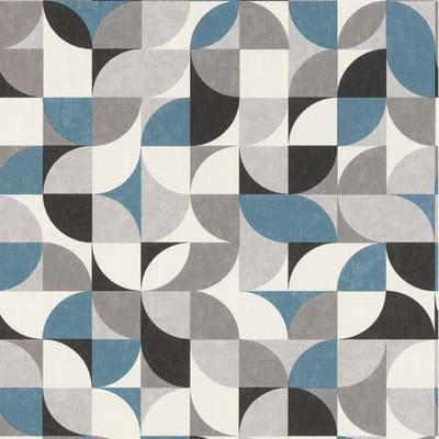 Carta da parati Geometrico grigio e argento