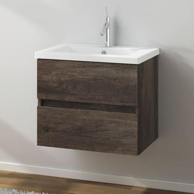 Mobile bagno Kora rovere scuro L 61 cm