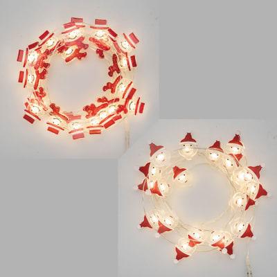 Catena luminosa 20 lampadine LED multicolore 200 cm