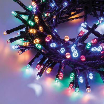 Catena luminosa 600 lampadine LED multicolore 2450 cm