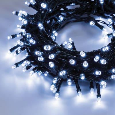 Catena luminosa 300 lampadine LED bianco freddo 1250 cm