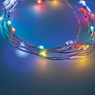 Catena luminosa 120 lampadine LED multicolore 1190 cm