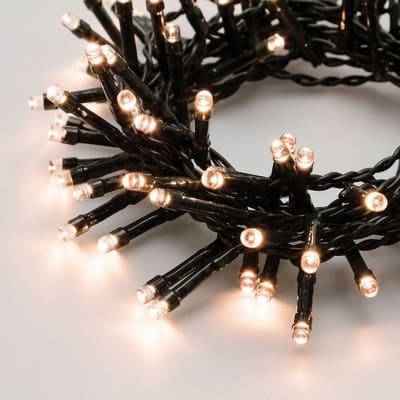 Catena luminosa 300 lampadine LED bianco caldo 12 m