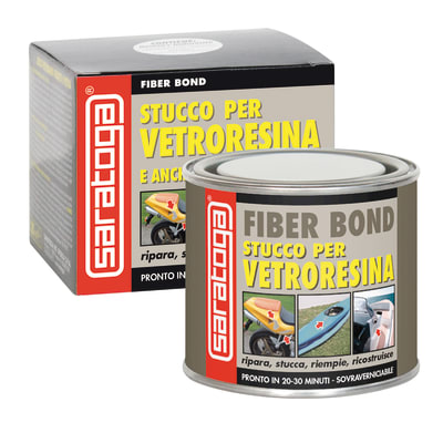 Stucco di riparazione plastica e vetroresina SARATOGA Fiber Bond per vetroresina 125 ml