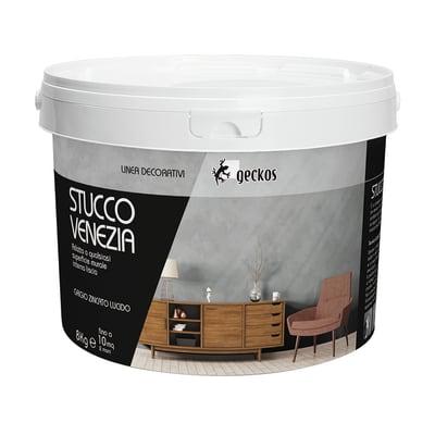 Pittura decorativa GECKOS Stucco 8 kg grigio zincato ...
