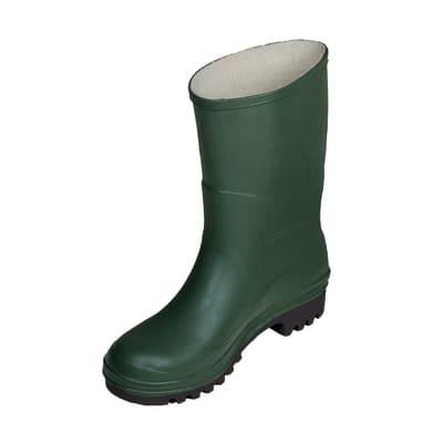 Stivali in pvc verde Tronchetto misura 43
