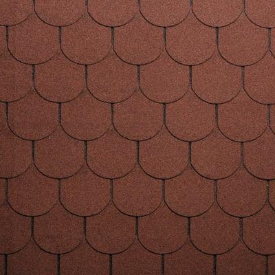Tegola bituminosa ONDULINE Beaver in bitume 34 x 100 cm, Sp 3 mm rosso