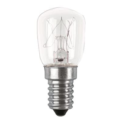 Set di 2  lampadine Incandescente, E14, Bulbo, Trasparente, Luce calda, 10W=30LM (equiv 10 W), 360° , OSRAM