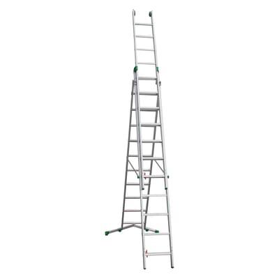 Scala a sfilo FACAL Super Prima 3 rampe in alluminio 3x11 gradini per lavori fino a 5.3 m