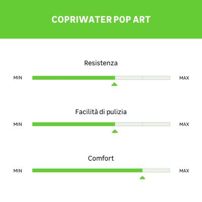 Copriwater quadrato Pop Art bianco