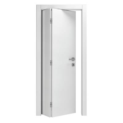 Porta pieghevole Kent frassino bianco L 70 x H 210 cm destra