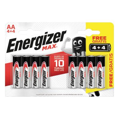 Pila alcalina AA ENERGIZER 8 batterie