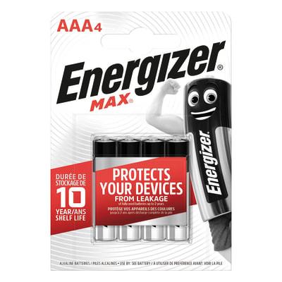 Pila alcalina AAA ENERGIZER 4 batterie