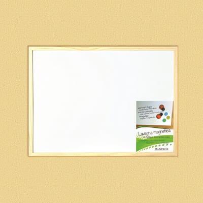 Lavagna magnetica cancellabile Cornice legno naturale 60x45 cm