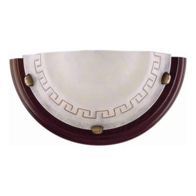 Applique rustico Greca marrone, in legno, 15x30 cm,